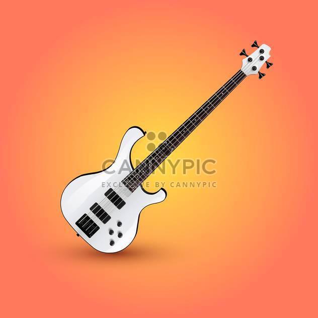 Vektor-Illustration der e-Gitarre auf einem orangefarbenen Hintergrund - Free vector #127719
