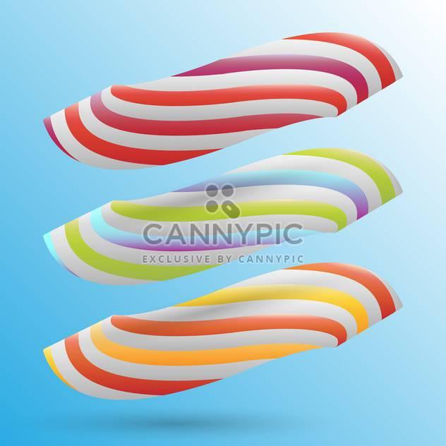 Vektor-Illustration von süß Süßigkeiten auf blauem Hintergrund - Free vector #127739