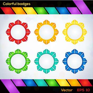 Colorful vector flower shaped badges - Kostenloses vector #127749