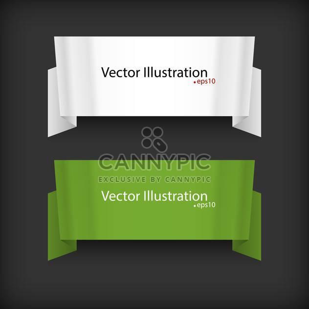Vektor-Satz von zwei Bändern auf schwarzem Hintergrund mit Text-Platz - Kostenloses vector #127769