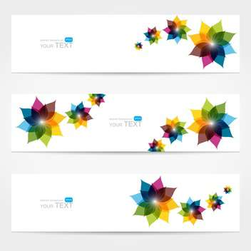 vector collection of floral colorful banners - Free vector #127779