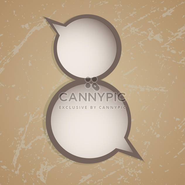 Vector speech bubbles in eight number shape on brown background - Free vector #127789