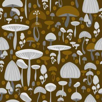 brown and white mushrooms seamless pattern - vector gratuit #127799