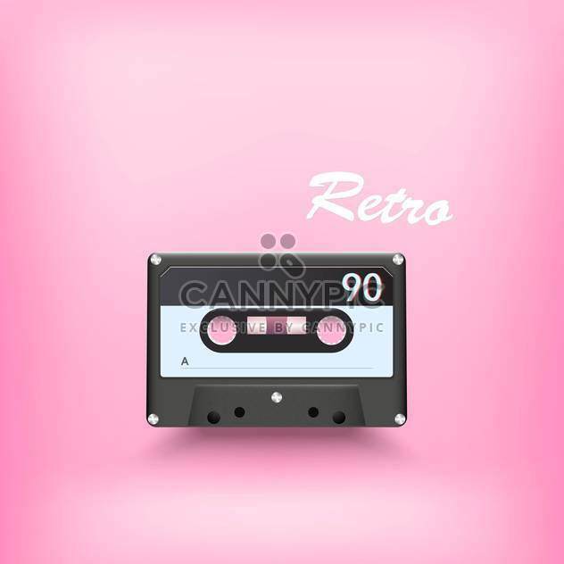 Vektor-Illustration von retro audio-Kassette auf rosa Hintergrund - Kostenloses vector #127839