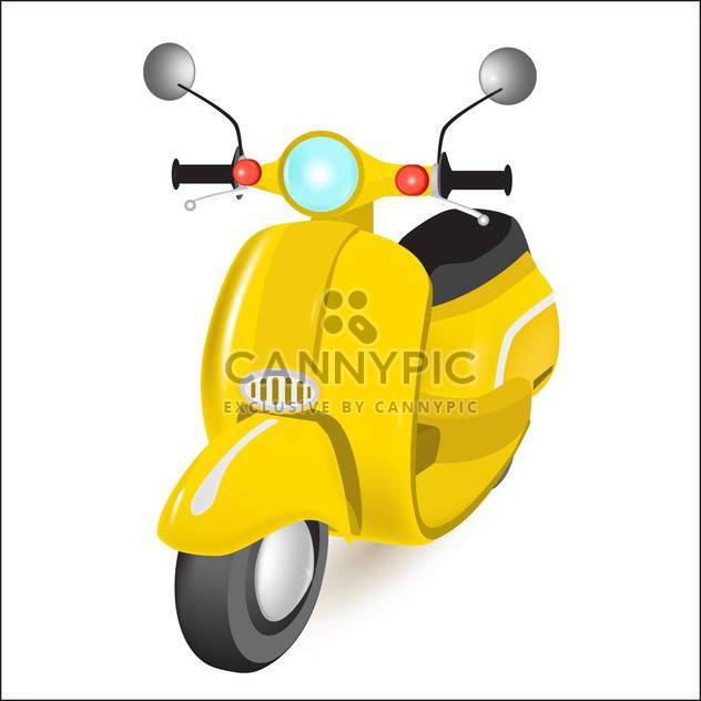 vector illustration of yellow motorbike on grey background - Free vector #127869