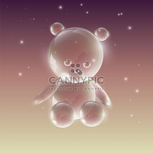 Bear made of water drops on bright background - Free vector #127889