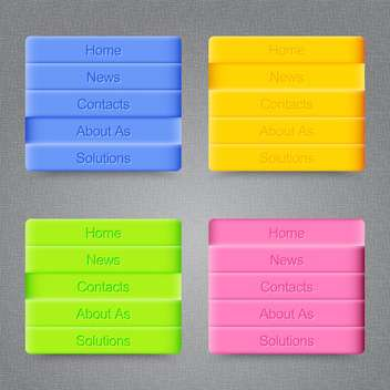 Modern colored buttons on grey background - vector #128039 gratis