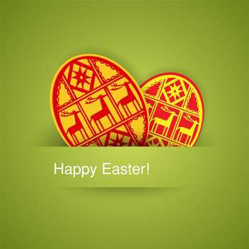 holiday background with easter eggs on green background - бесплатный vector #128059
