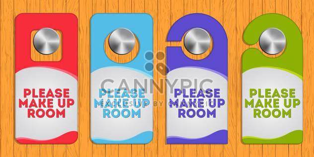 vector illustration of hotel hanger sign - Free vector #128089