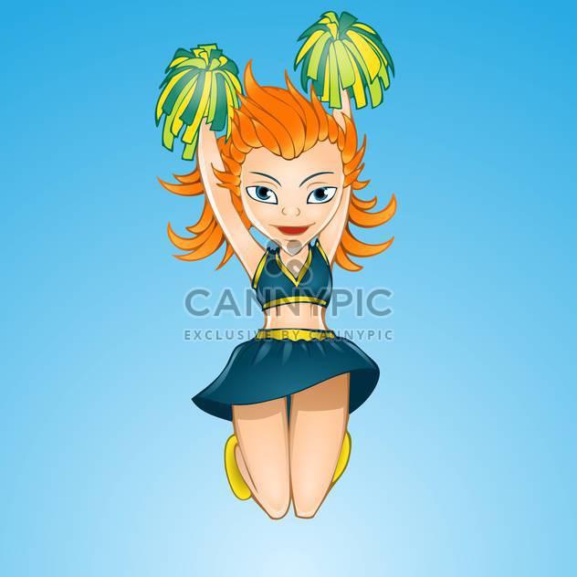 Springender Cheerleader Mädchen Vektor-illustration - Free vector #128139