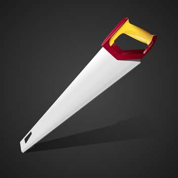 Hand saw vector Illustration - vector gratuit #128199