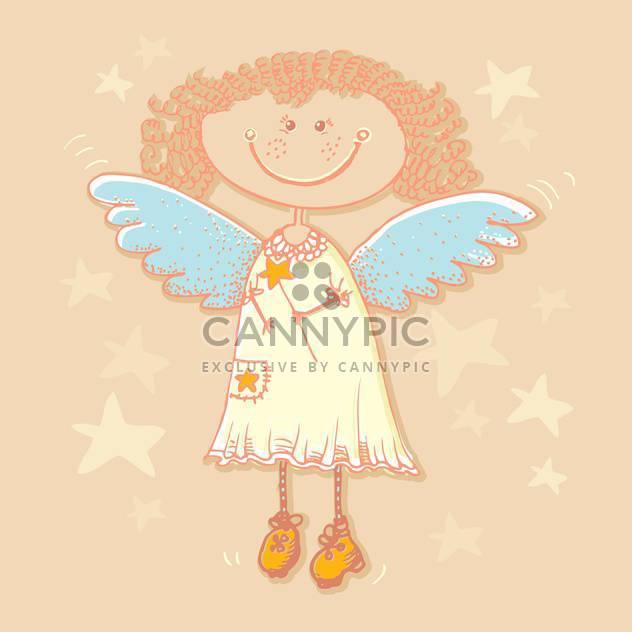 Heiligen Engel und Sternen-Hintergrund - Kostenloses vector #128219