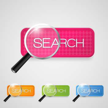 Set with search buttons on white background - vector #128279 gratis