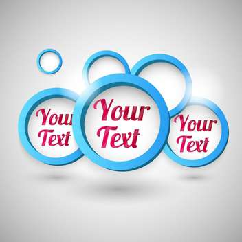 Blue bubbles with space for text inside and shadows - vector gratuit #128369