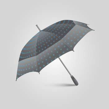 Black Umbrella illustration on white background - Kostenloses vector #128389