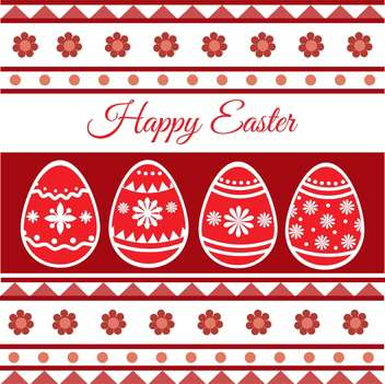 Vector illustration of Happy Easter Card - vector gratuit #128409