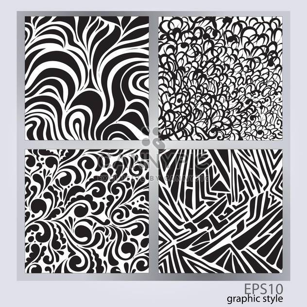 Vector set of abstract monochrome backgrounds - Free vector #128489