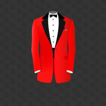 Red tuxedo vector illustration - Free vector #128509