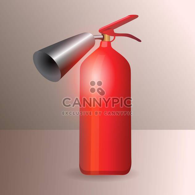 Vector illustration of red glossy fire extinguisher - Free vector #128549
