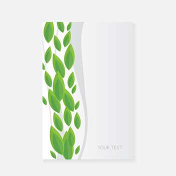 Vector banner with green leaves - vector gratuit #128579
