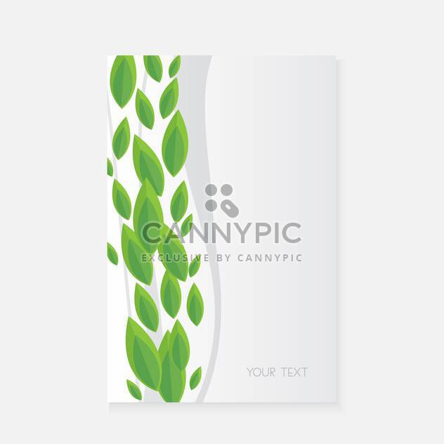 Vector banner with green leaves - Free vector #128579