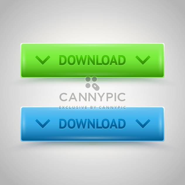 Bunt glänzende Download Vektor Web Buttons - Free vector #128609
