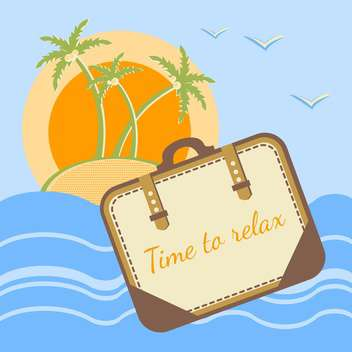 Summer holidays concept vector background - Free vector #128659