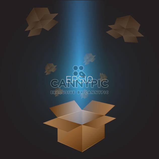 Vector illustration of open cardboard boxes. - Free vector #128689
