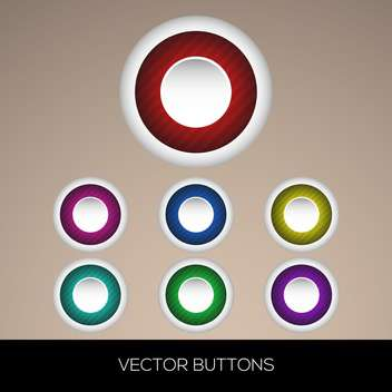 Vector set of colorful round buttons - Free vector #128699