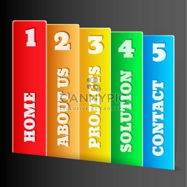 Vector colorful website design elements - Free vector #128709