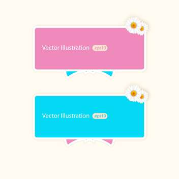Vector banners with camomiles and copy space - бесплатный vector #128739