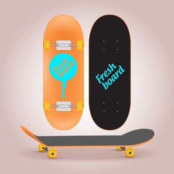 Vector illustration of skateboard upper and lower side - Free vector #128759