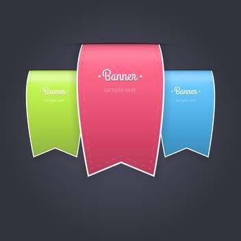 Vector Illustration of colorful ribbon bookmarks - Free vector #128859