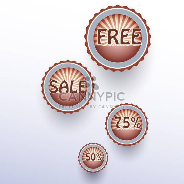 Set of vector sale labels on white background - Free vector #128879