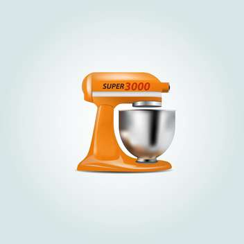 Vector illustration of orange coffee maker on white background - vector #128929 gratis