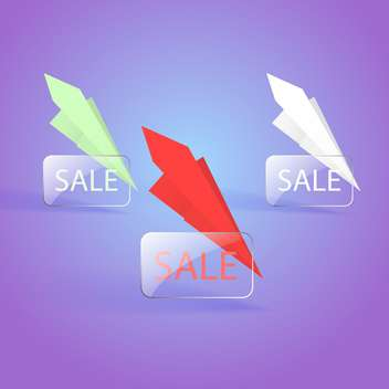 sale banners with paper planes - vector gratuit(e) #128979