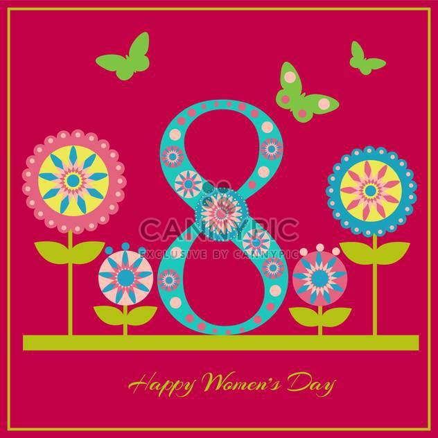glückliche Damen Tag Grußkarte - Kostenloses vector #129089