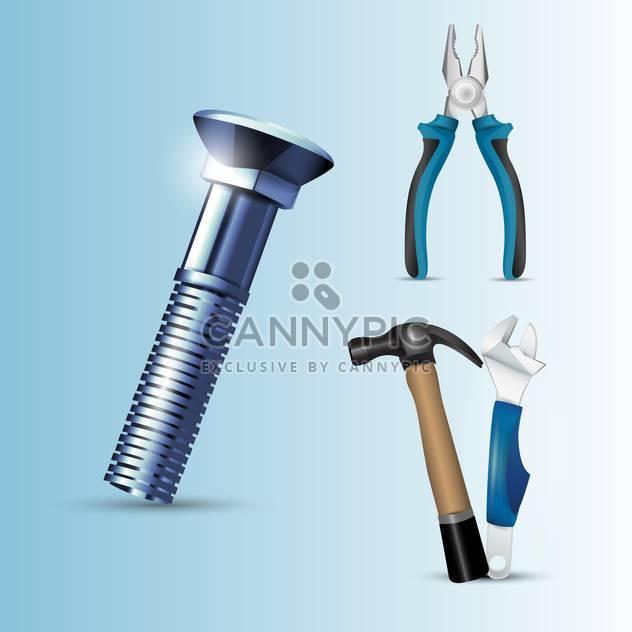 Vektor-Werkzeuge-Set-illustration - Free vector #129119