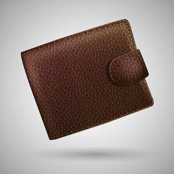 leather wallet vector illustration - бесплатный vector #129159
