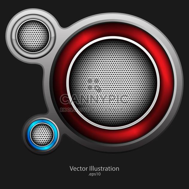 abstract loudspeaker metallic background - Free vector #129189