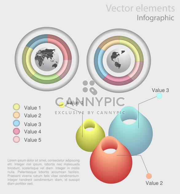 set of business infographics elements - Free vector #129209