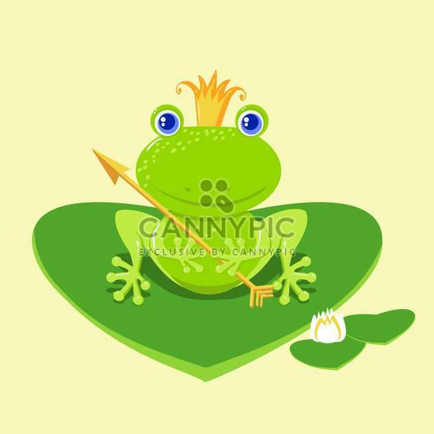 vector frog princess cartoon character - Free vector #129259
