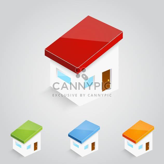 Vektor-Reihe von bunten Häuser icons - Free vector #129289