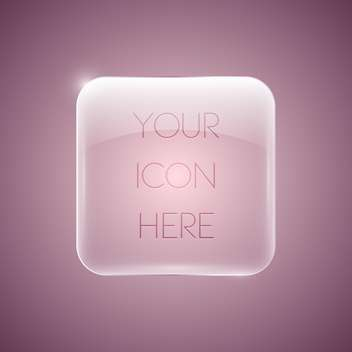 Vector glossy pink button icon - Free vector #129359