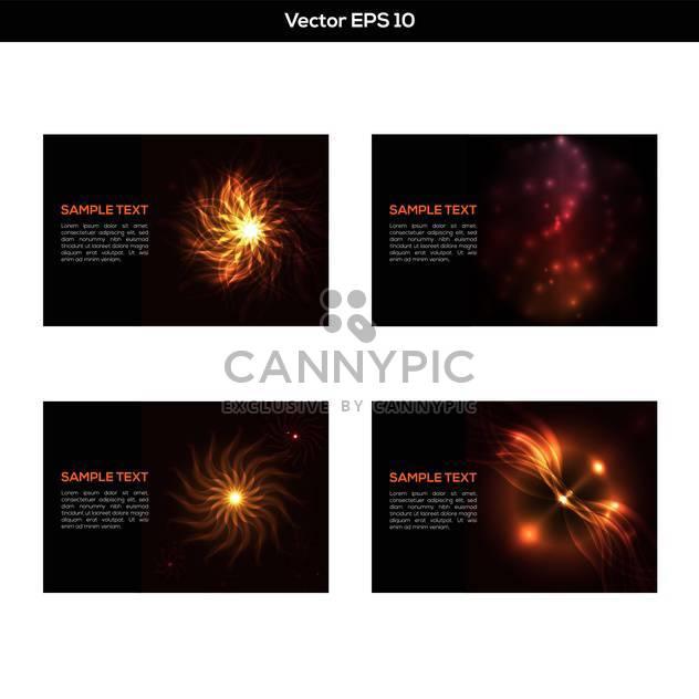 Vektor-set schwarz abstrakt mit Flamme - Free vector #129509