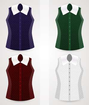 Vector female blouses collection set - Free vector #129879