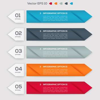 Vector infographic banners with numbers and arrows - vector gratuit #129919