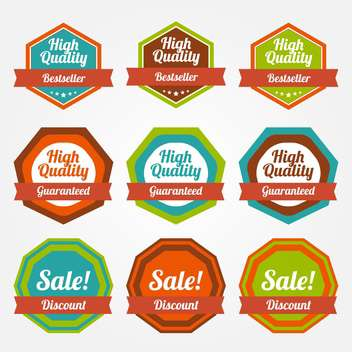 Vector set of vintage labels for sale - Free vector #130039