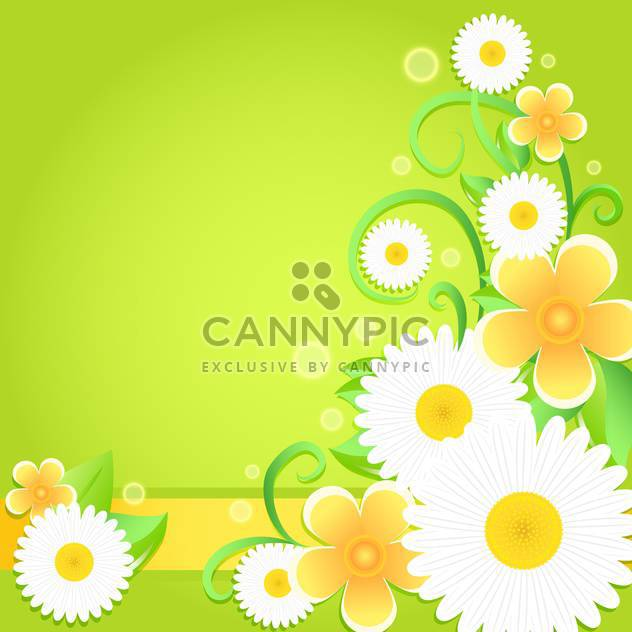 Spring floral background with place for text - Free vector #130049