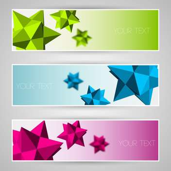 Vector colorful banners with abstract elements - бесплатный vector #130069